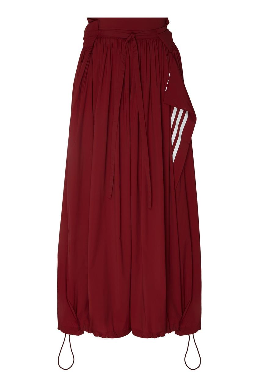 Фото - Юбку-брюки винного оттенка от Y-3 красного цвета