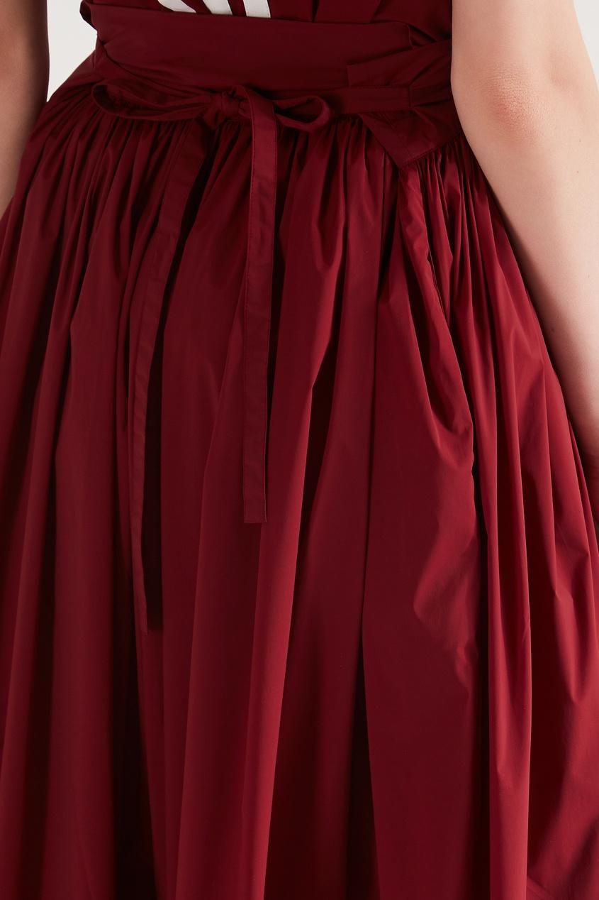 Фото 6 - Юбку-брюки винного оттенка от Y-3 красного цвета