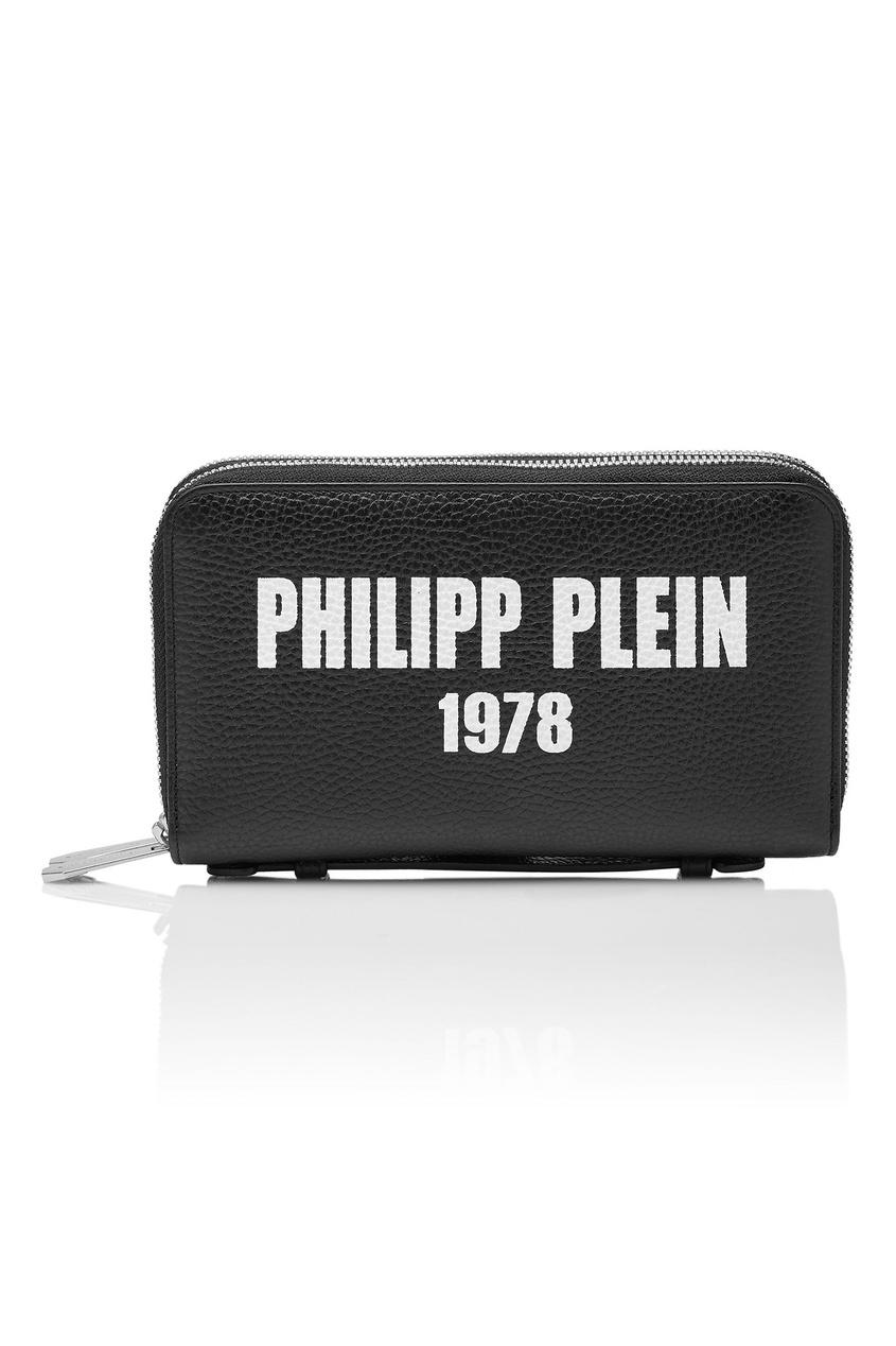 Купить Черный кошелек с логотипом от Philipp Plein черного цвета