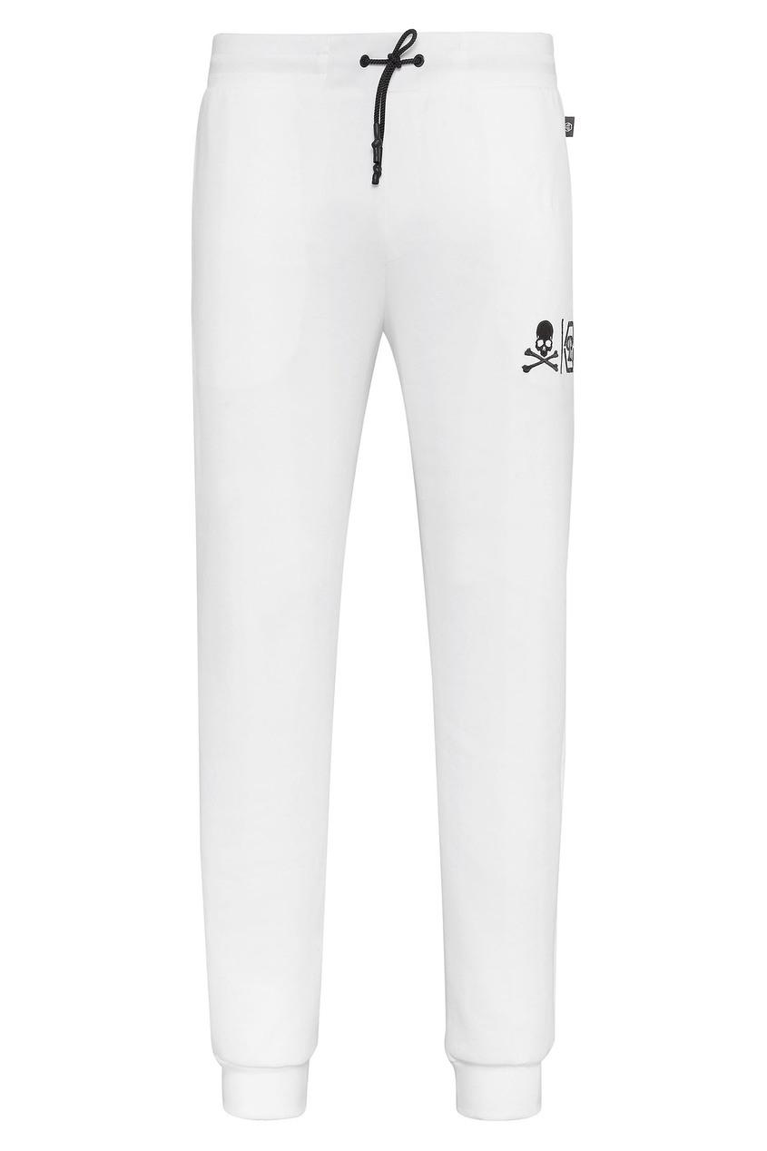 Купить Белые трикотажные брюки от Philipp Plein белого цвета