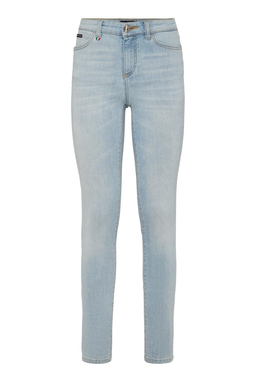 Купить Голубые облегающие джинсы от Philipp Plein голубого цвета