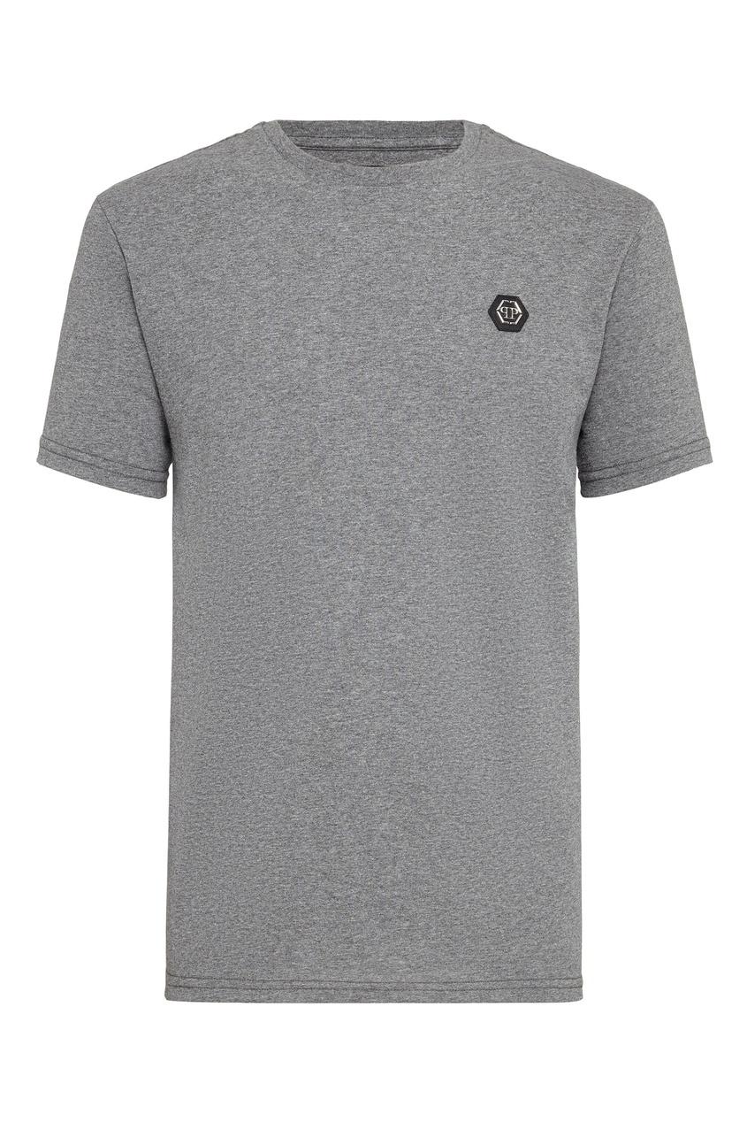 Купить Серая футболка от Philipp Plein серого цвета