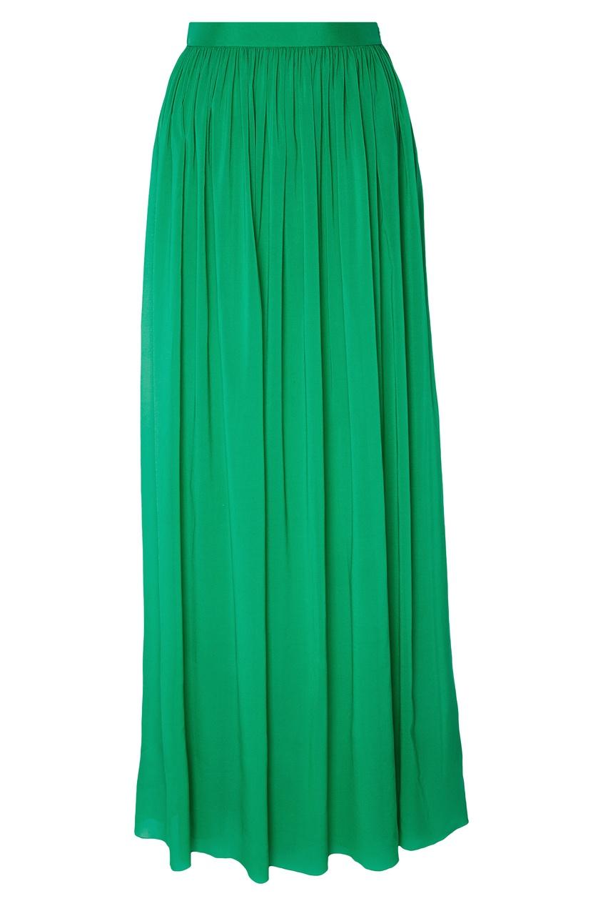Купить Зеленая юбка-макси от Alexander Terekhov зеленого цвета
