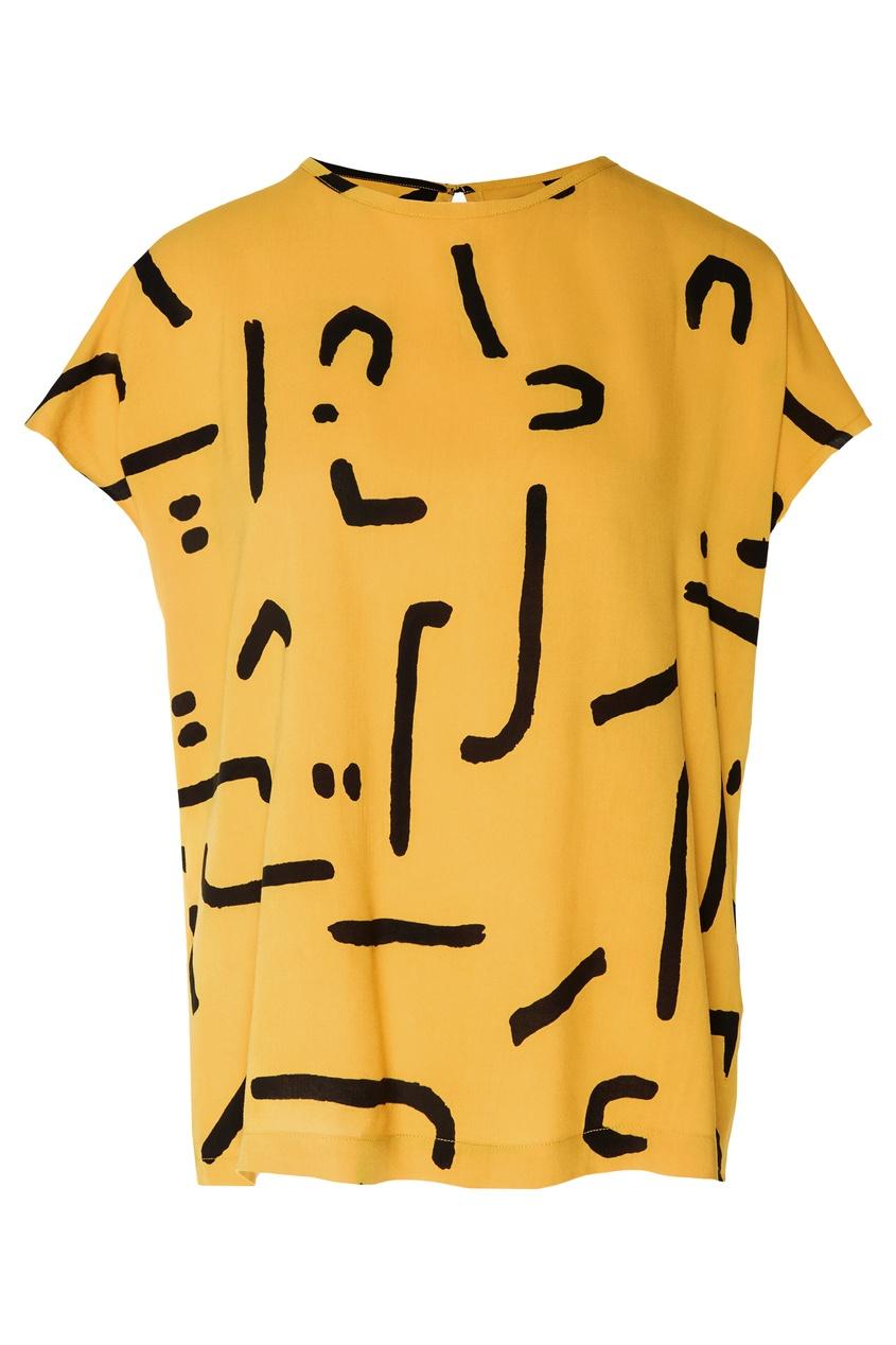 Фото - Костюм с абстрактным принтом от One Teaspoon желтого цвета