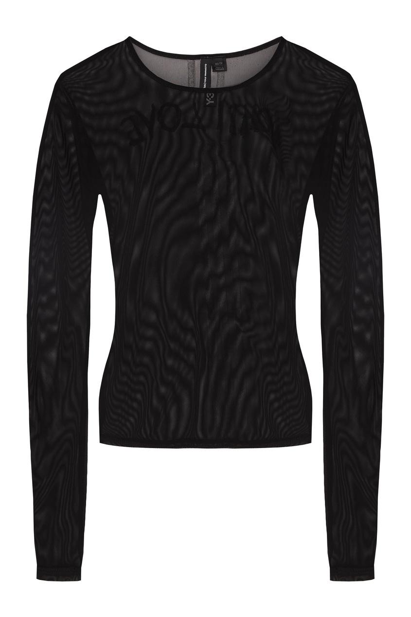 Купить Черная сетчатая блузка от Y-3 черного цвета