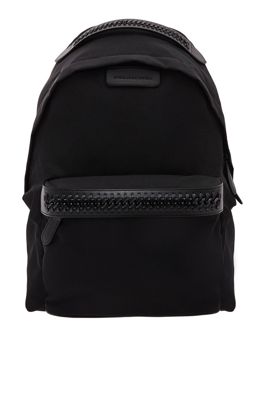 Купить Рюкзак с брендированными лямками от Stella McCartney черного цвета