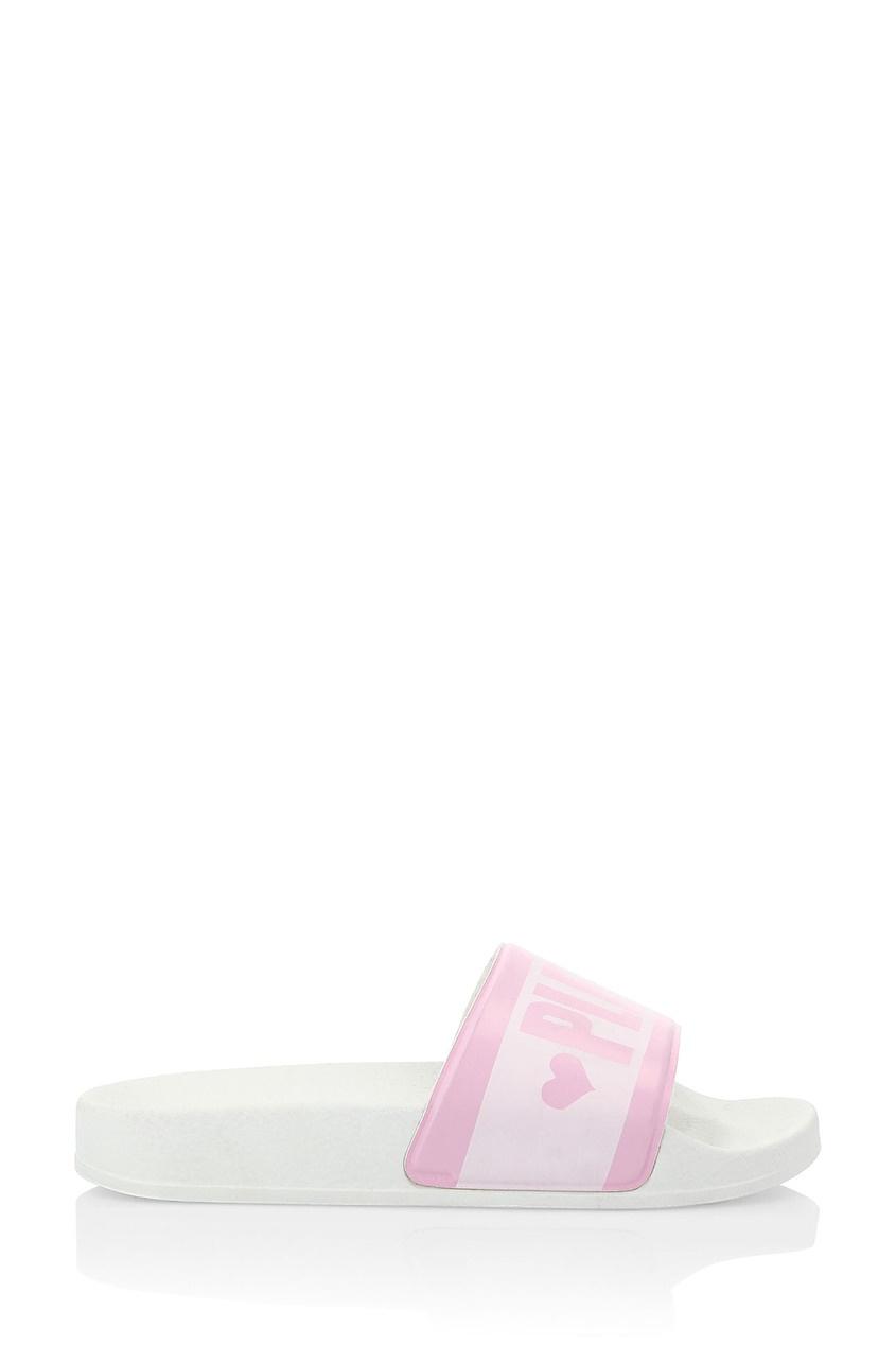 Розово-белые пантолеты от Philipp Plein Kids