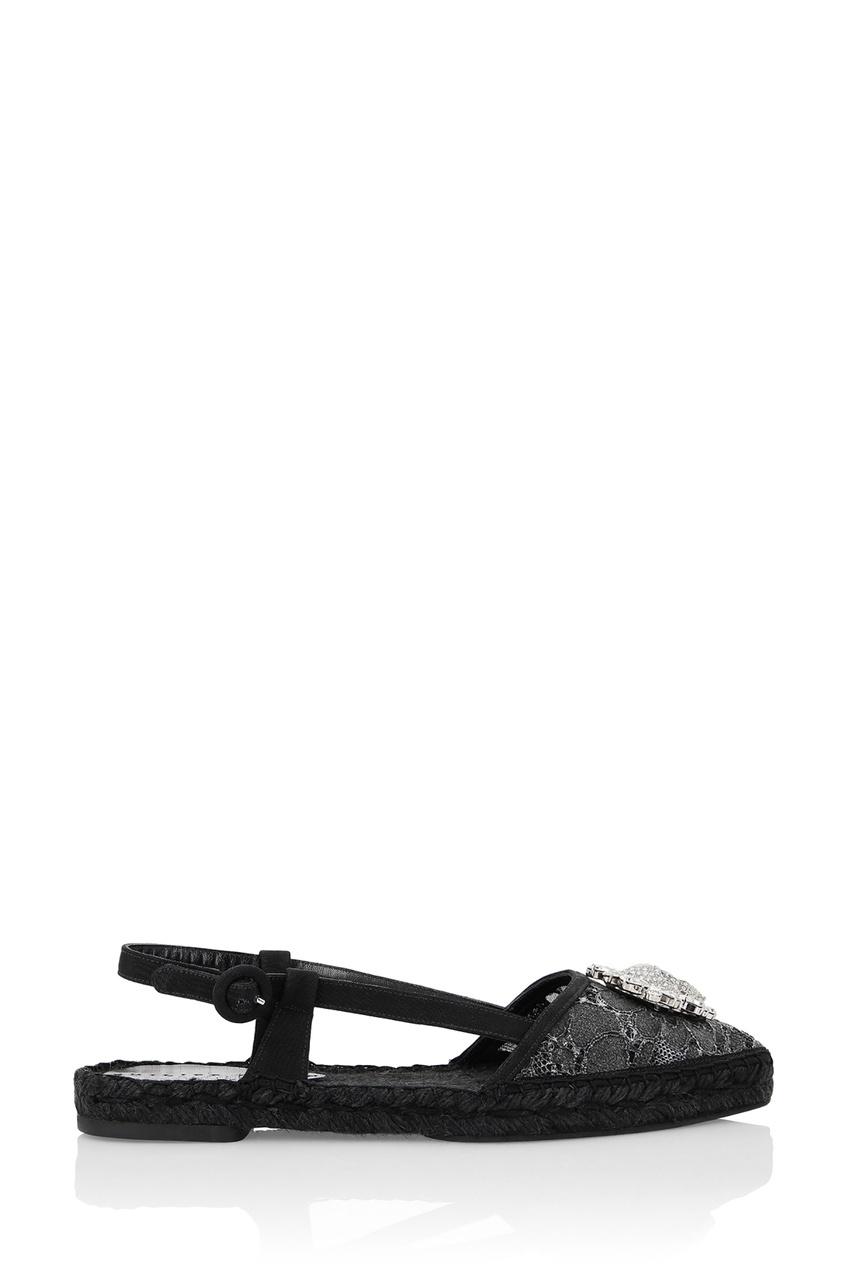 женские эспадрильи philipp plein, черные