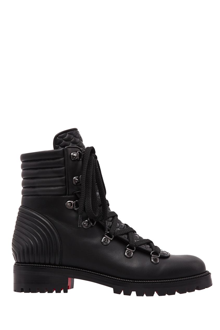 Купить Черные кожаные ботинки Mad Boot от Christian Louboutin черного цвета