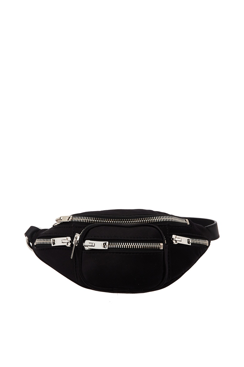 Купить Текстильная поясная сумка от Alexander Wang черного цвета