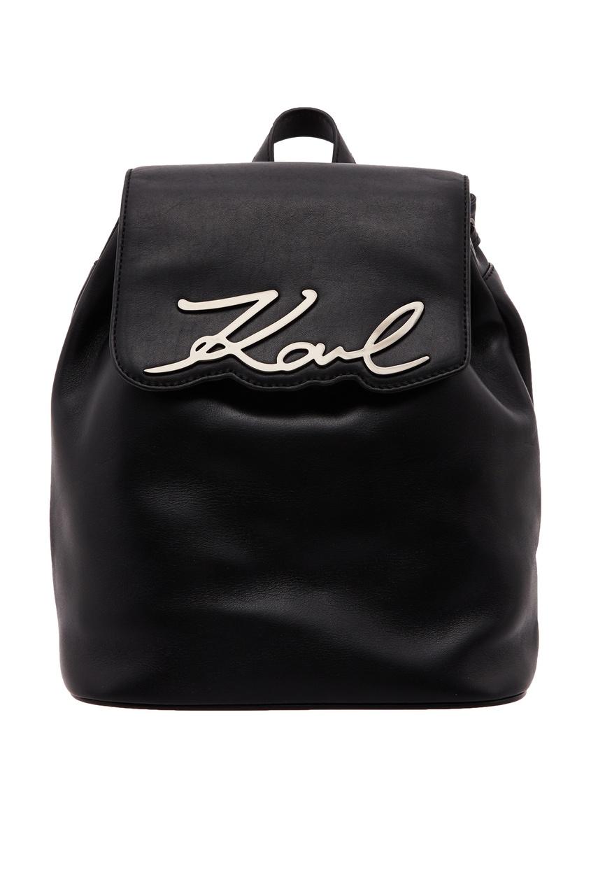 женский рюкзак karl lagerfeld, черный