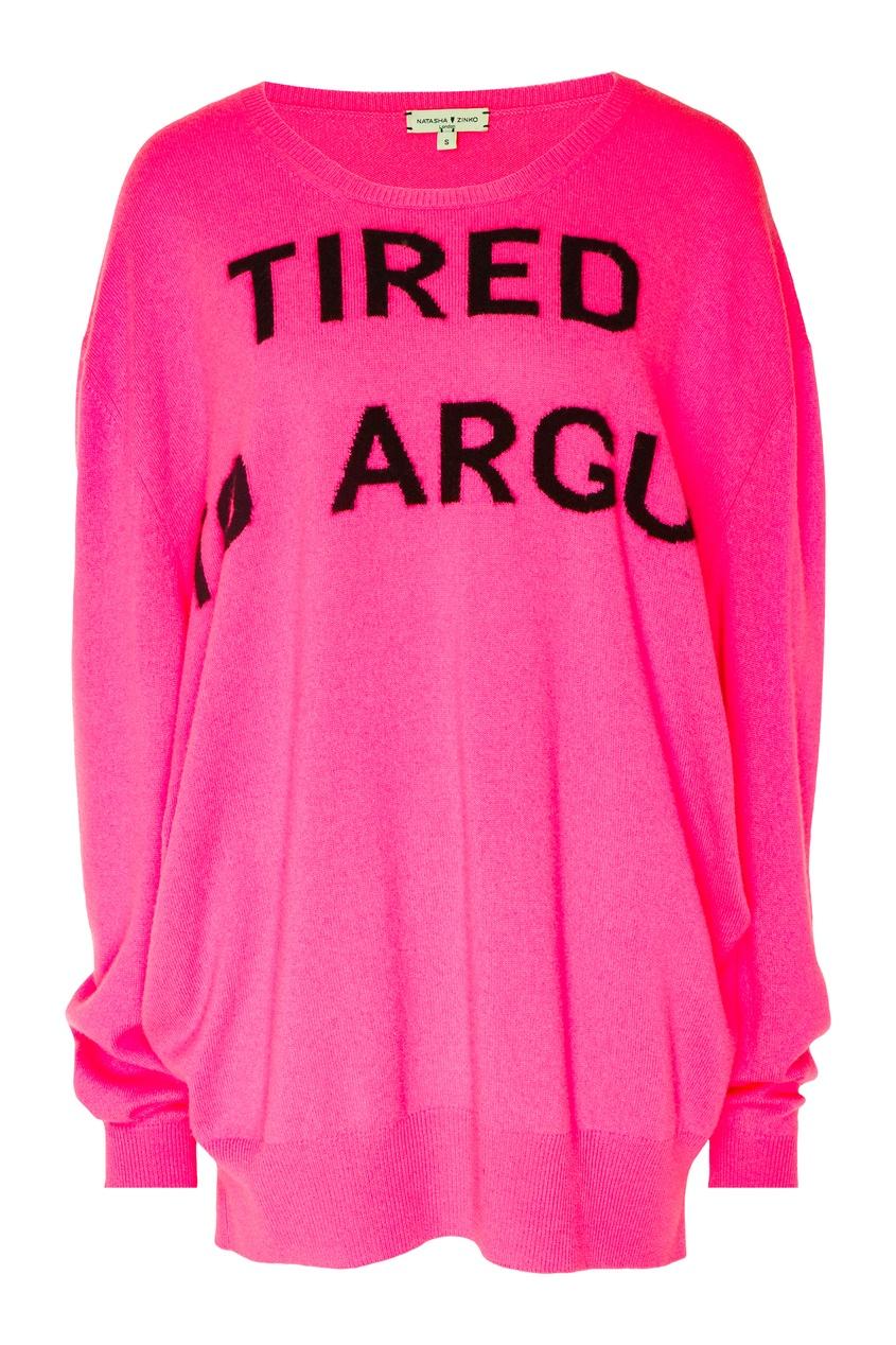Купить Розовый джемпер с надписью от Natasha Zinko розового цвета