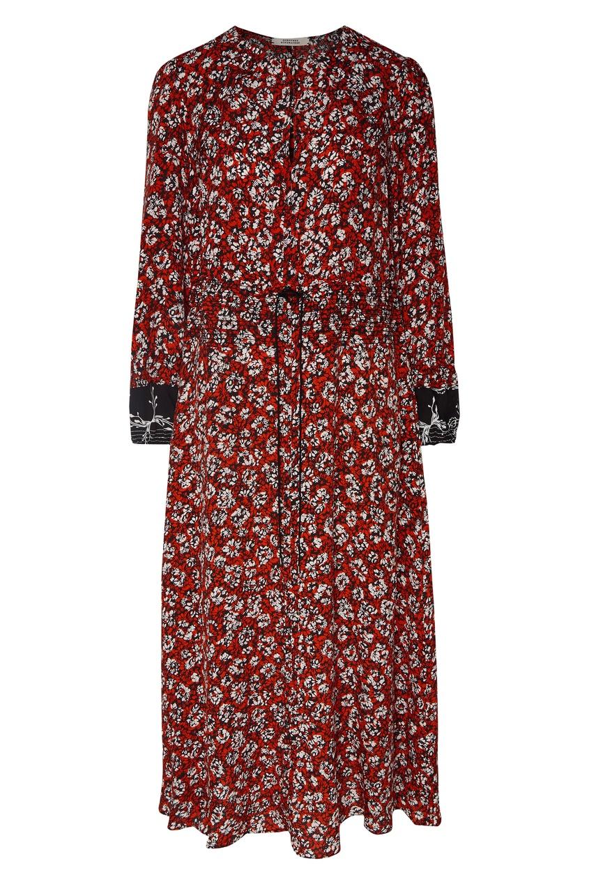 Купить Платье-макси с цветочными принтом от Dorothee Schumacher цвет multicolor