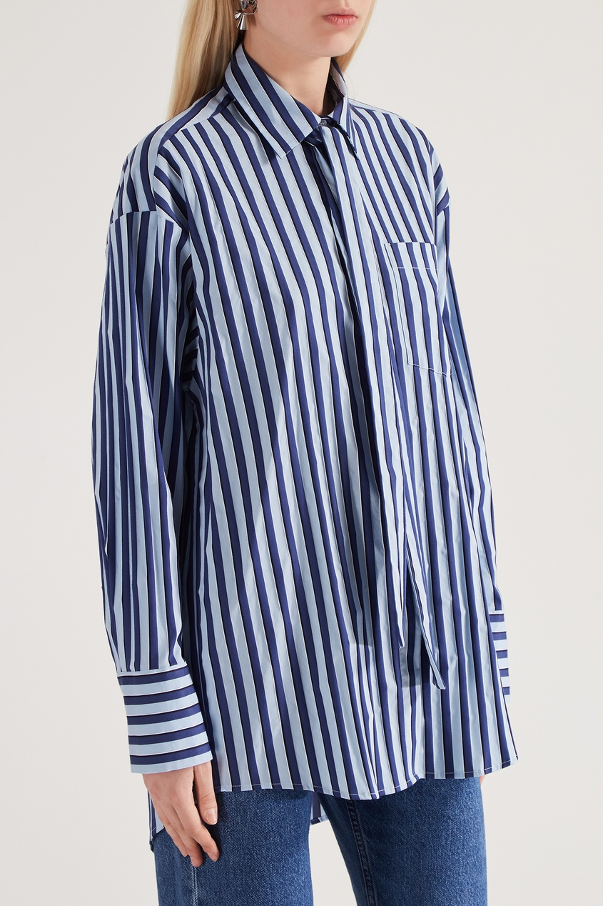 женская рубашка msgm, синяя