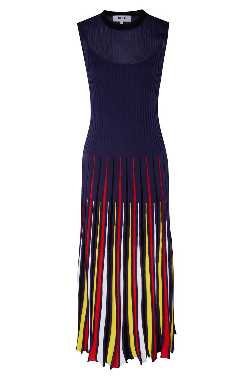 женское платье msgm, синее