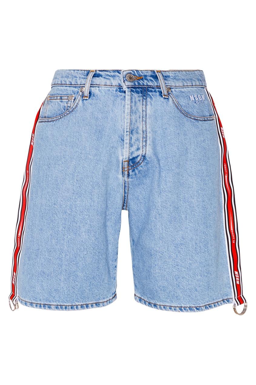 женские шорты msgm, синие