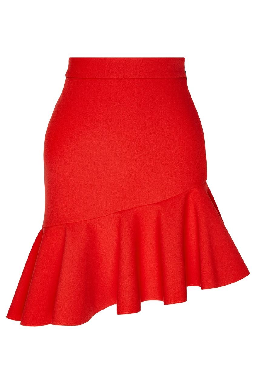 женская юбка msgm, красная