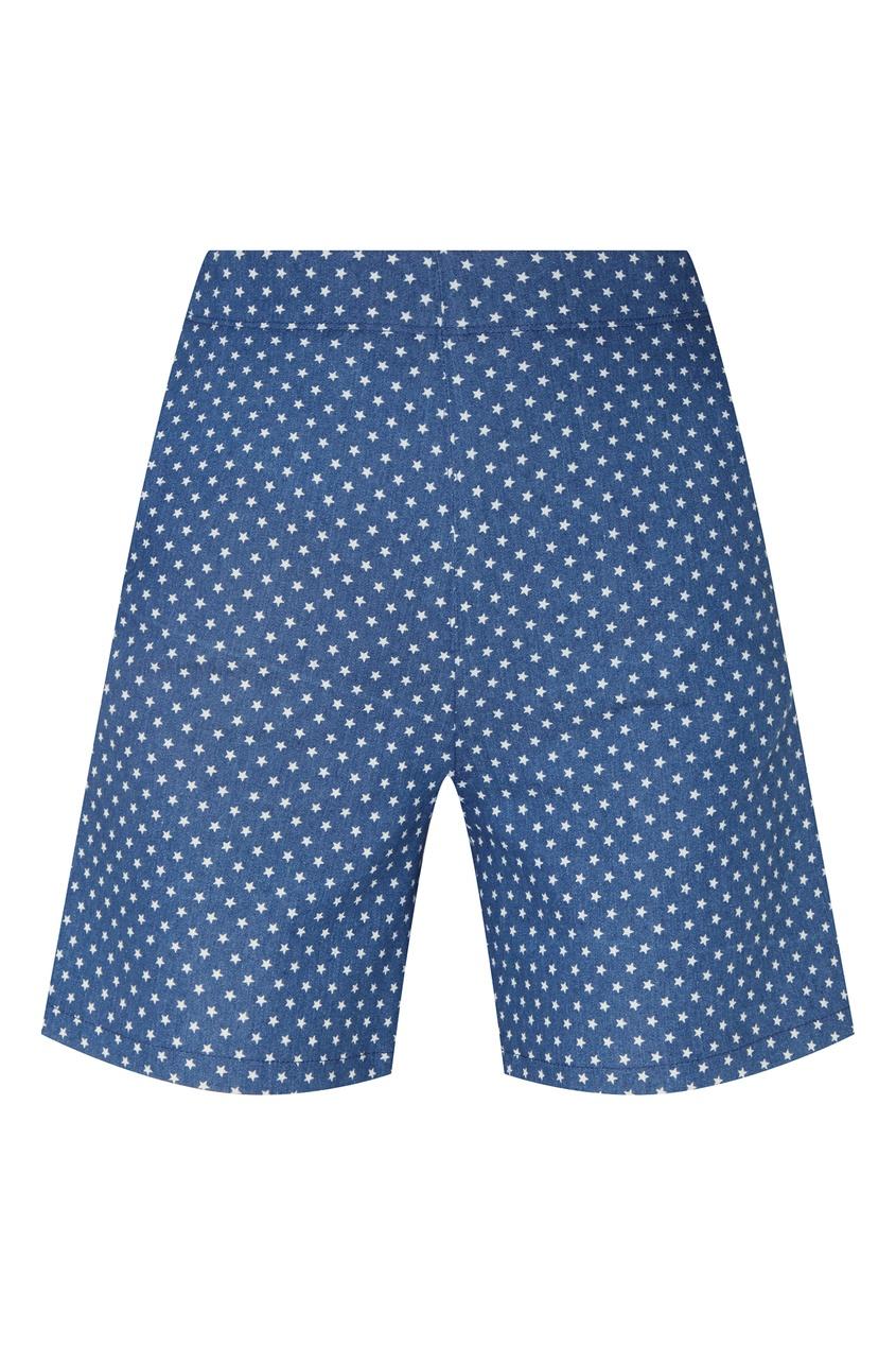 Купить Синие шорты в горошек от Terekhov Girl синего цвета