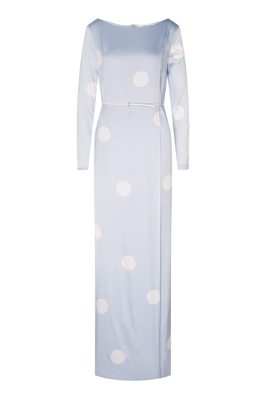 Купить Платье-макси с запахом от Alexander Terekhov голубого цвета