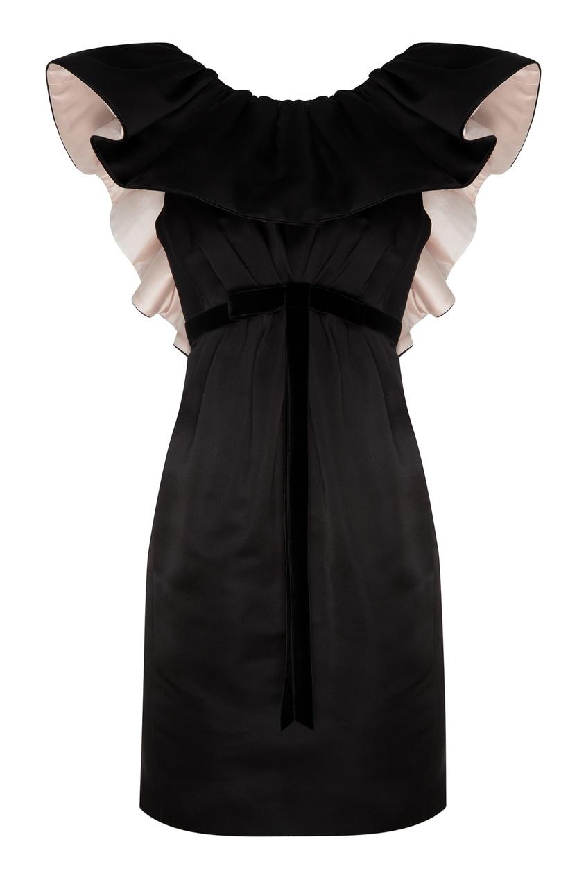 Купить Черное платье с воланом от Marc Jacobs черного цвета