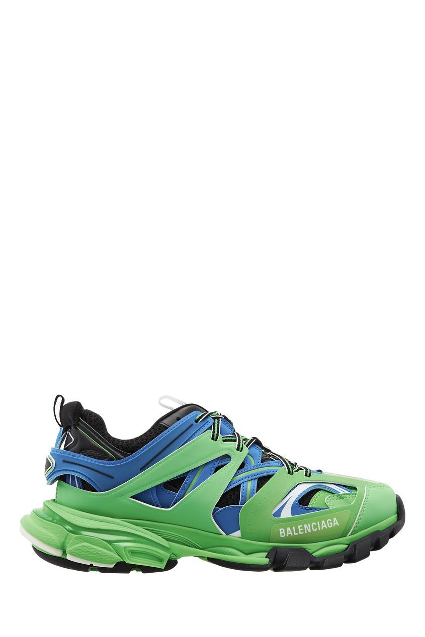 Сине-зеленые кроссовки Track