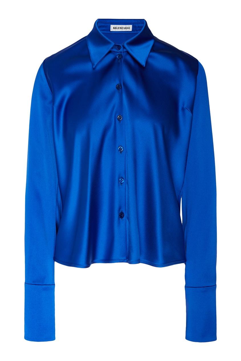 Купить Синяя блузка Tilted от Balenciaga голубого цвета