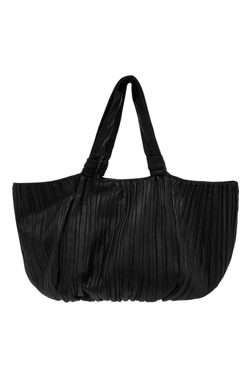 Купить Черная сумка с драпировкой от Max Mara черного цвета