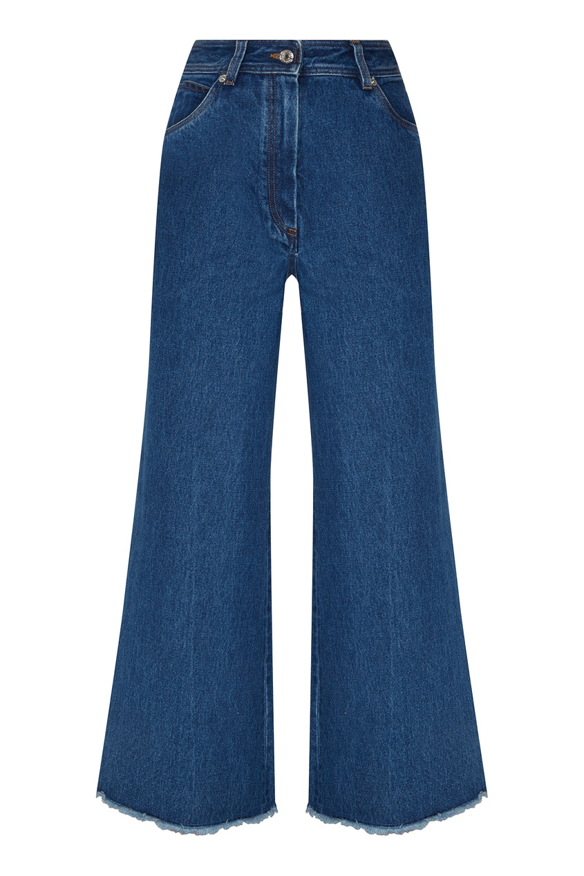Купить Укороченные синие джинсы от Alexander Terekhov синего цвета