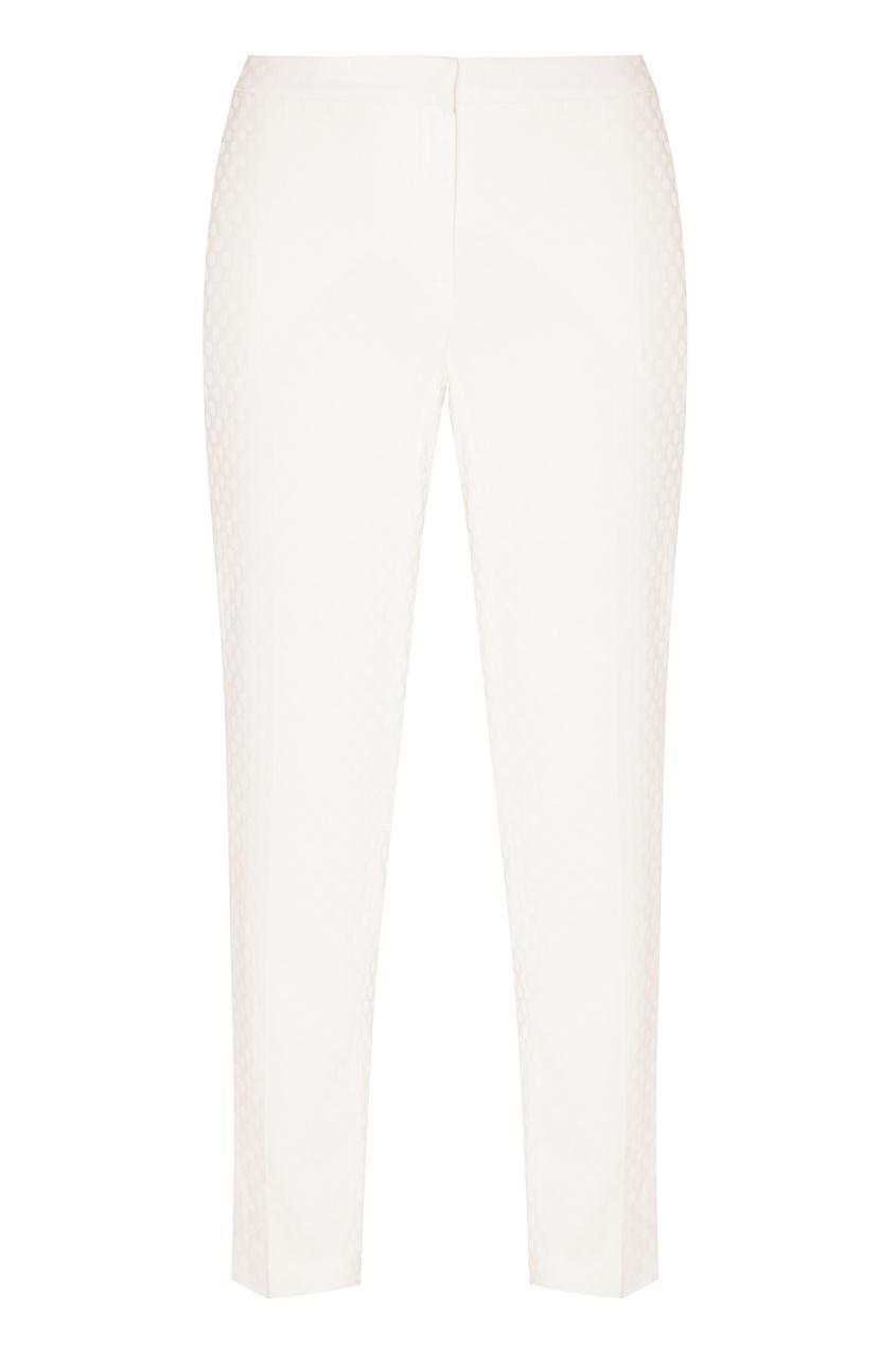 Купить Фактурные белые брюки от Alexander Terekhov белого цвета