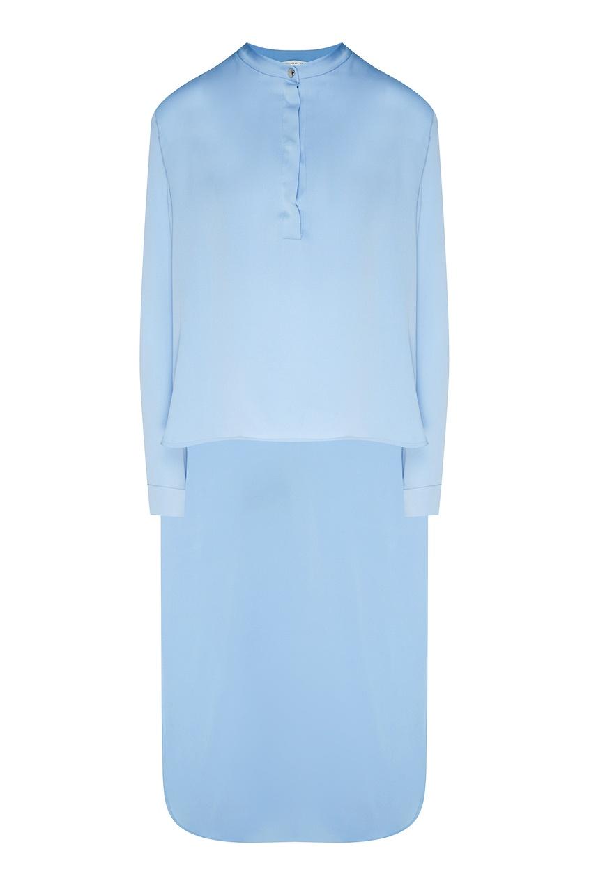 Купить Голубая асимметричная блузка от Alexander Terekhov голубого цвета