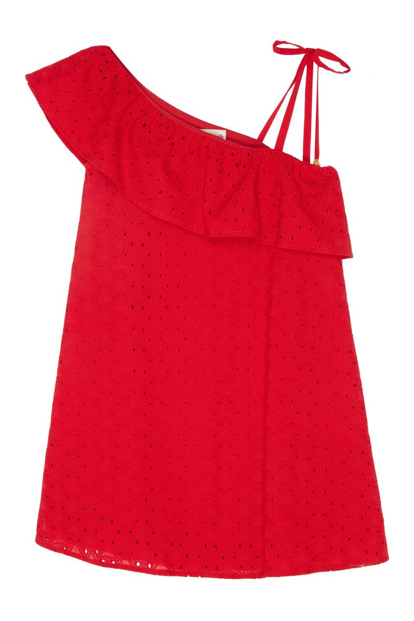 Купить Красное платье асимметричного кроя от Balloon and Butterfly красного цвета