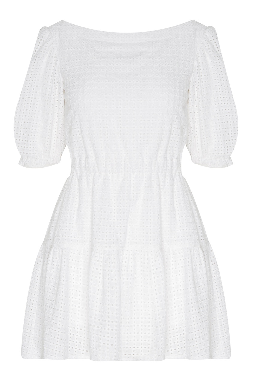 Купить Белое хлопковое платье от Balloon and Butterfly белого цвета