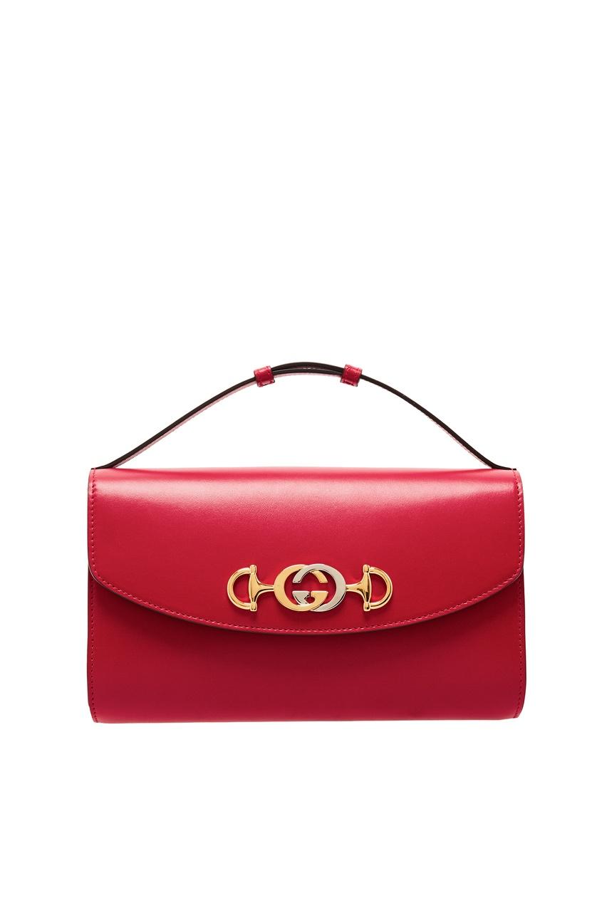 Купить Компактная красная сумка Zumi от Gucci красного цвета