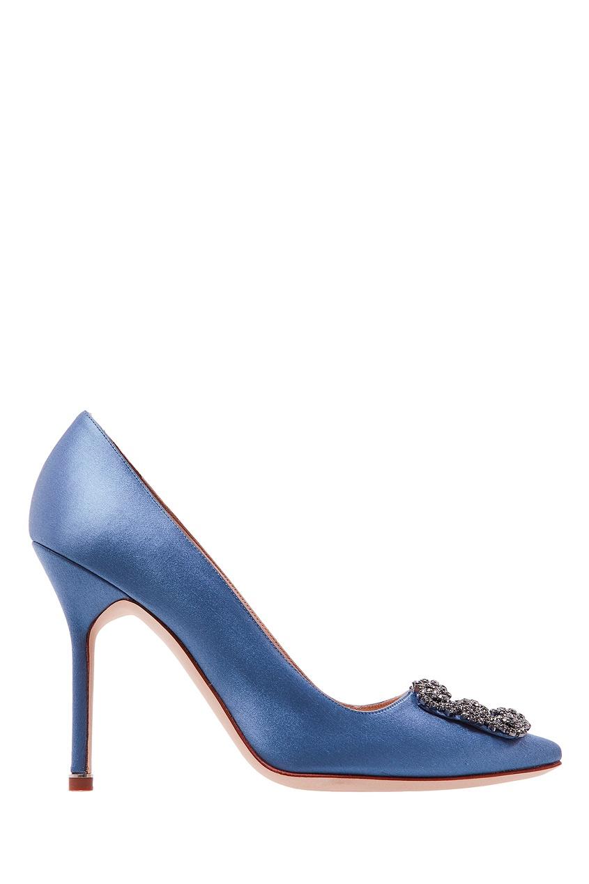 Голубые туфли Hangisi от Manolo Blahnik