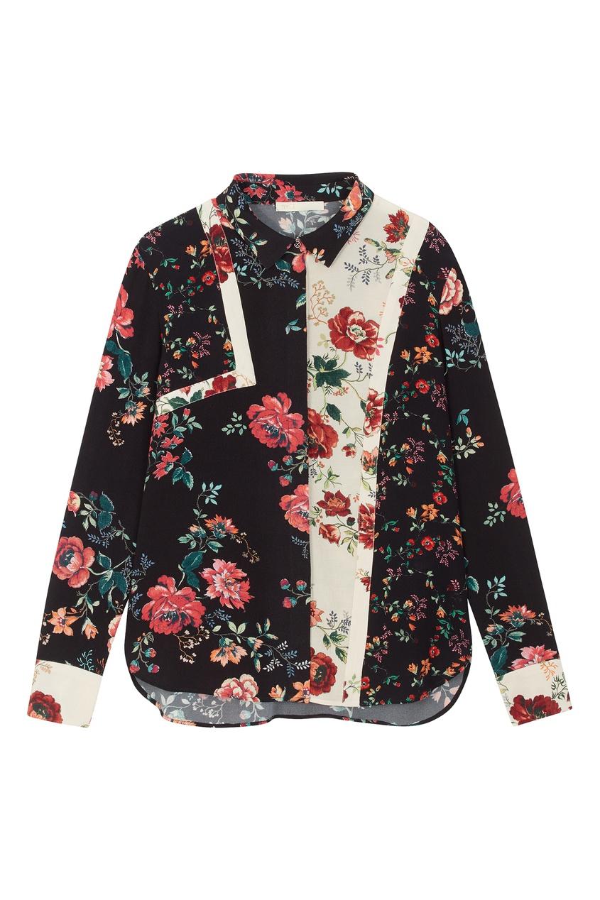 Купить Блузку с лоскутным дизайном от Maje цвет multicolor