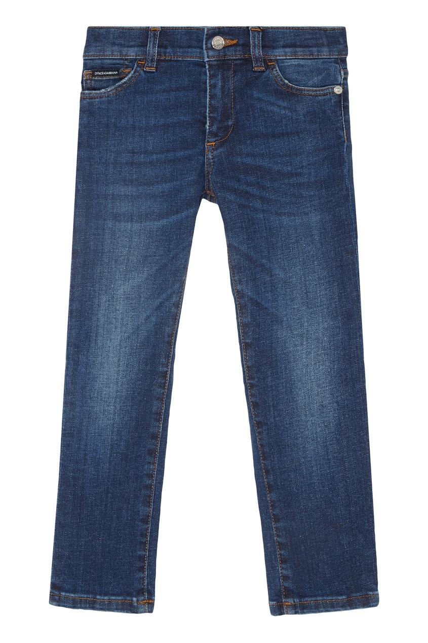 Купить Узкие синие джинсы синего цвета