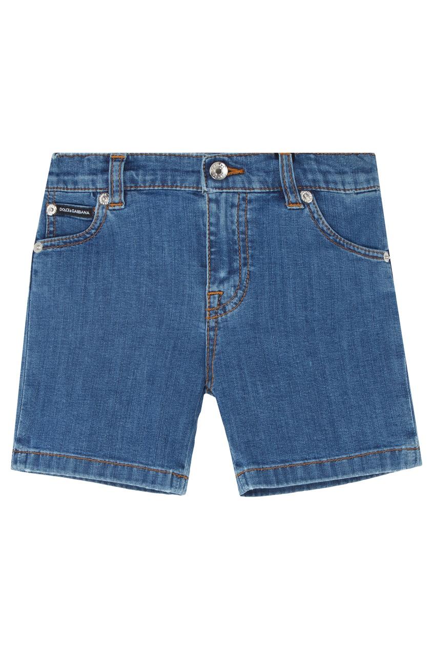 Купить Синие джинсовые шорты синего цвета