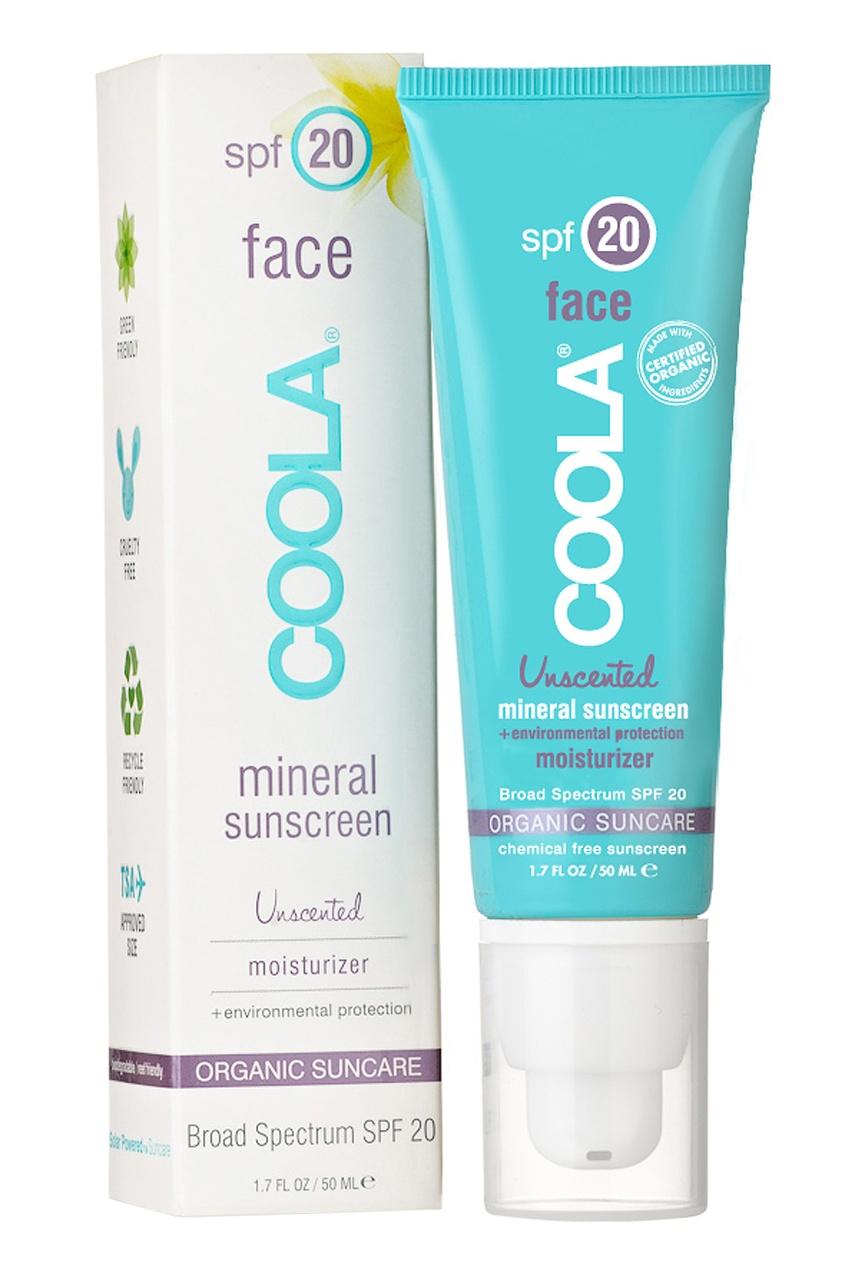 Солнцезащитный увлажняющий крем для лица с минералами без запаха SPF20 50ml