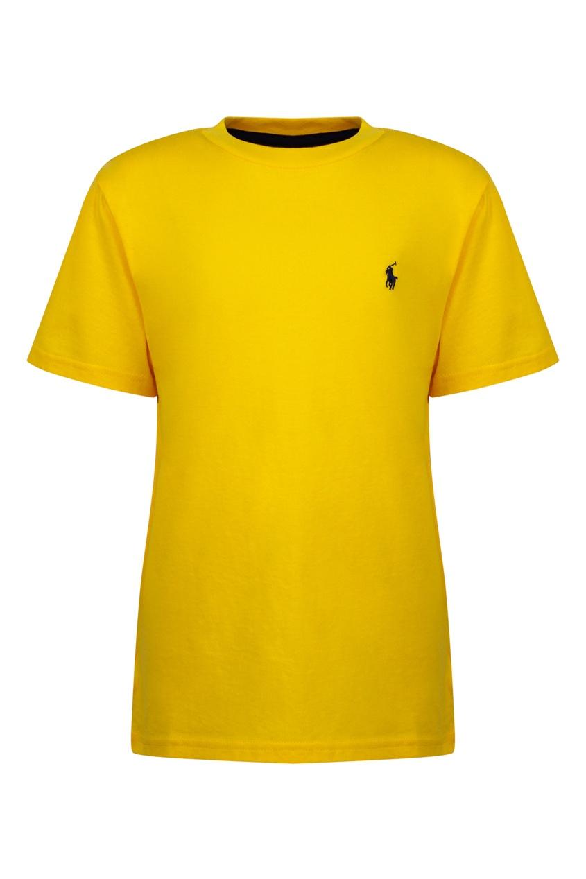 Купить Желтая футболка от Polo Ralph Lauren Kids желтого цвета