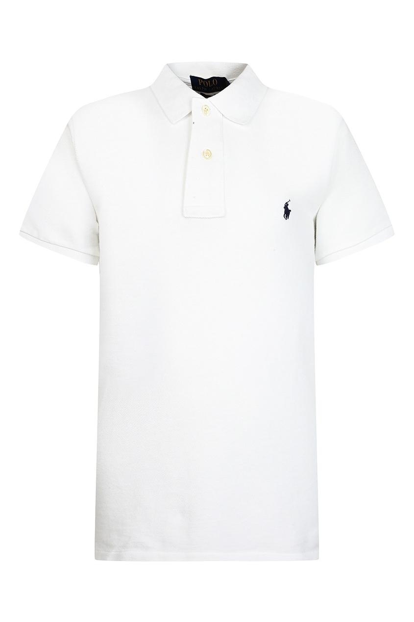 Купить Белое поло с логотипом от Polo Ralph Lauren Kids белого цвета