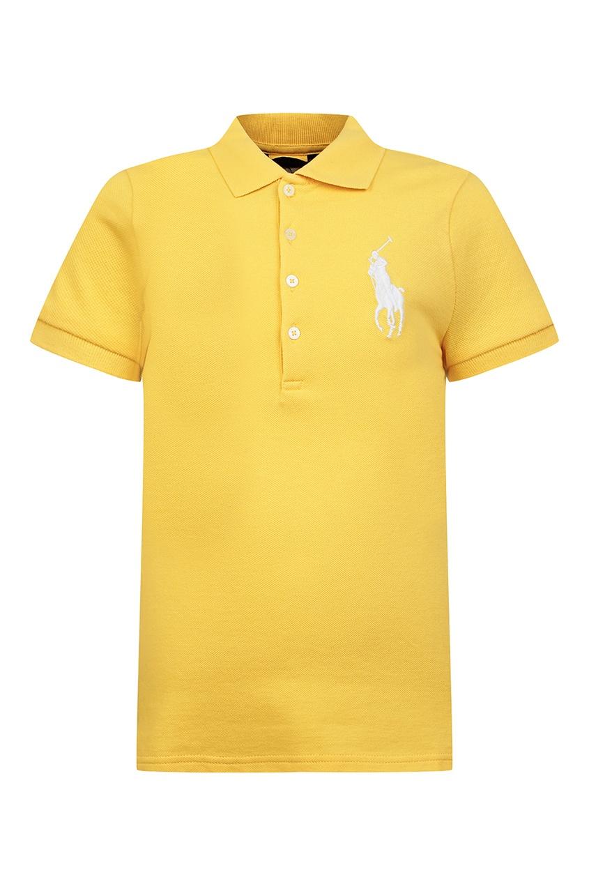 Желтое поло с вышивкой от Polo Ralph Lauren Kids