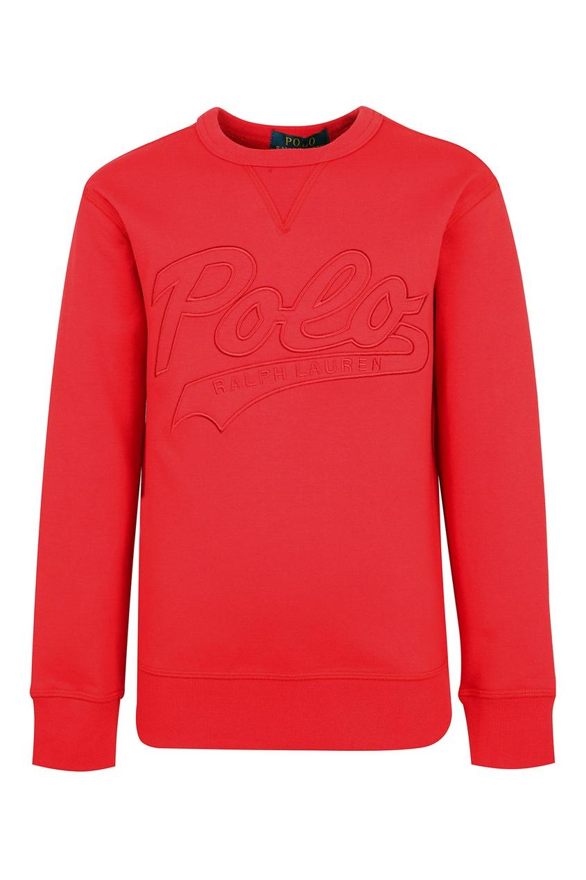 Купить Красный свитшот с логотипом от Ralph Lauren Kids красного цвета