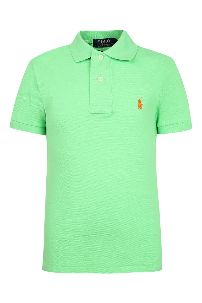 Купить Зеленое поло с короткими рукавами от Polo Ralph Lauren Kids зеленого цвета