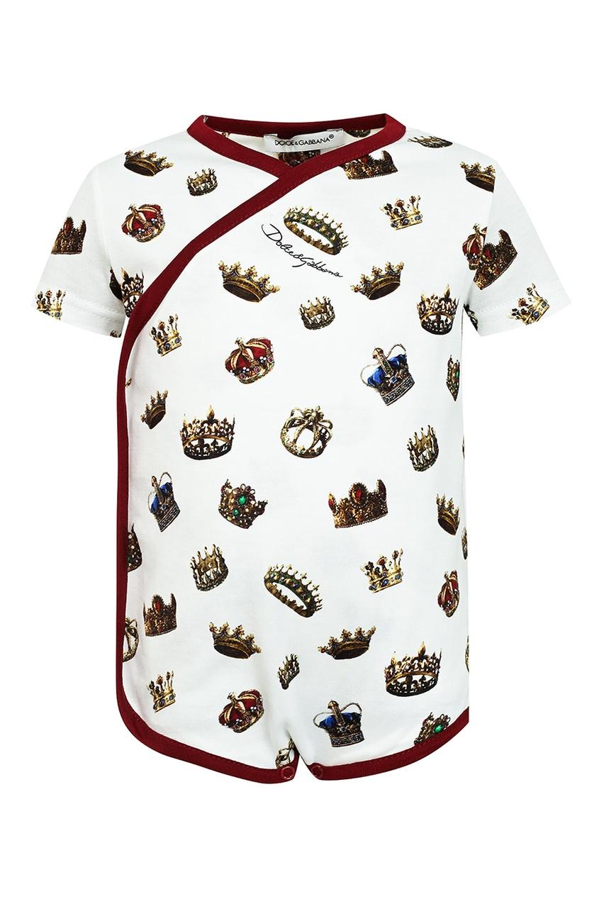 Комплект детской одежды с принтом Dolce&Gabbana Children