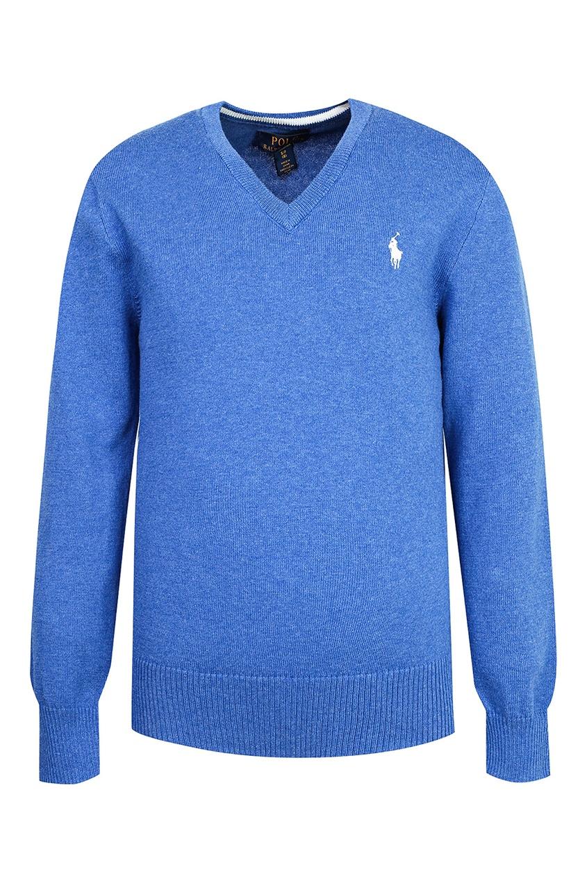 Купить Синий пуловер от Polo Ralph Lauren Kids синего цвета