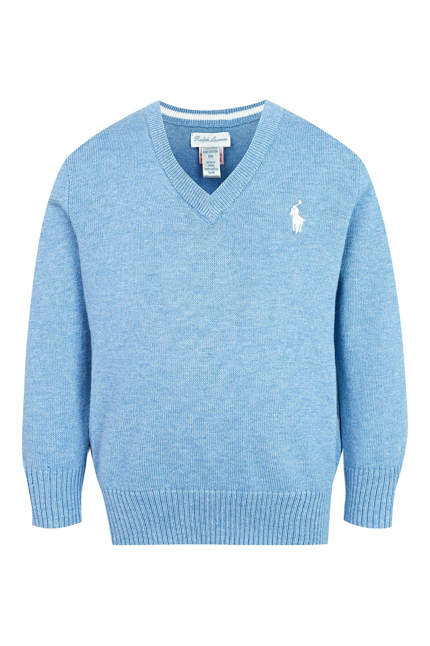 Купить Голубой пуловер от Ralph Lauren Kids голубого цвета