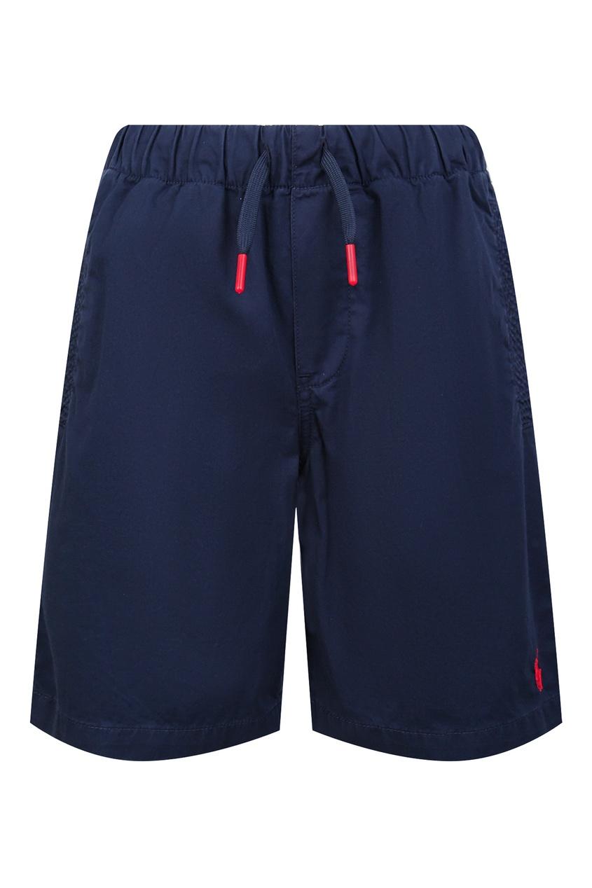 Купить Синие шорты с эластичным поясом от Polo Ralph Lauren Kids синего цвета