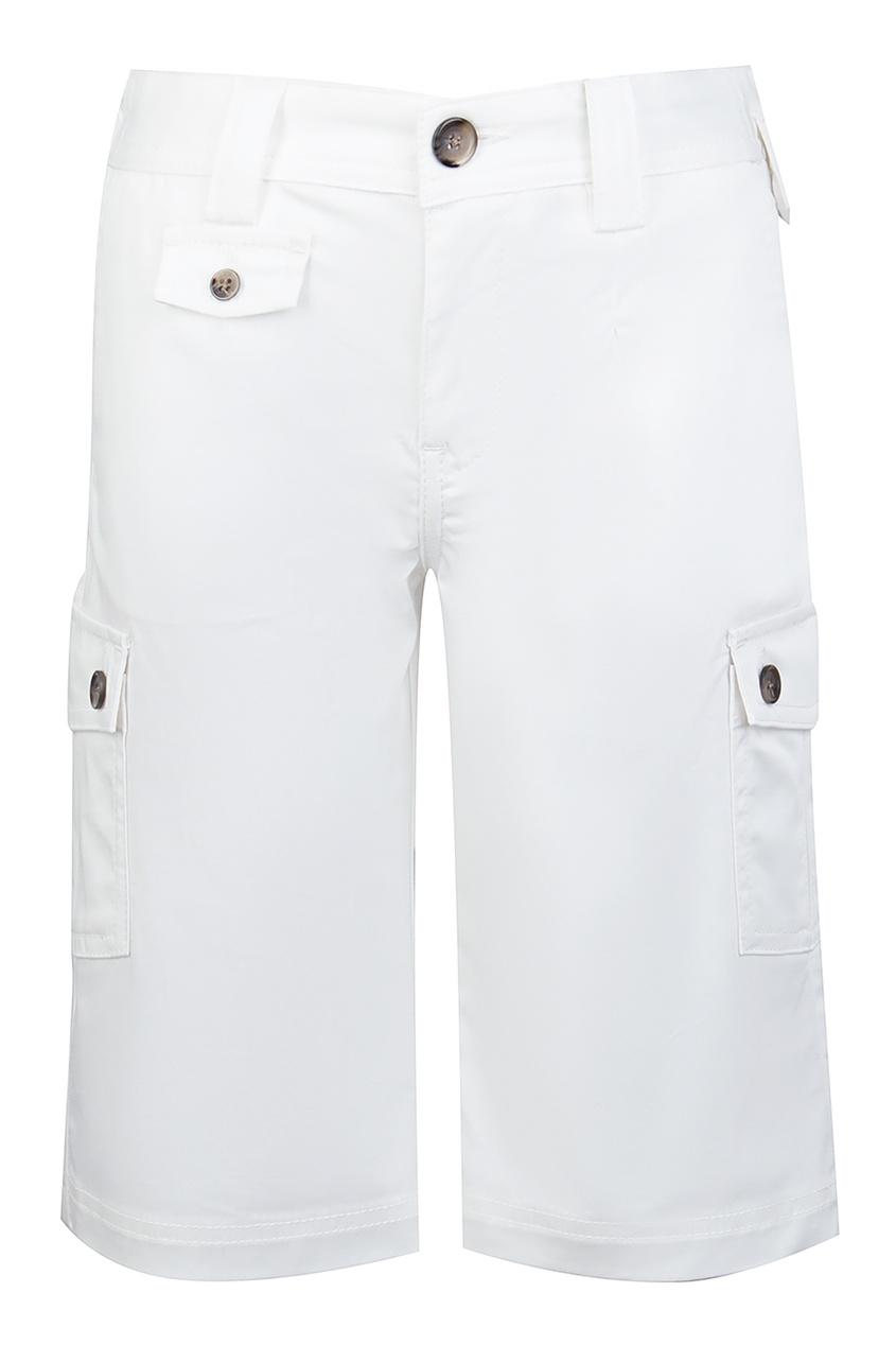 Белые брюки с карманами