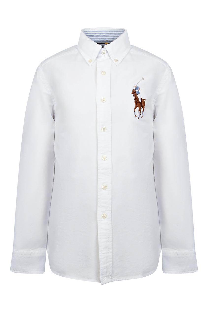 Купить Белая рубашка с символом от Ralph Lauren Kids белого цвета