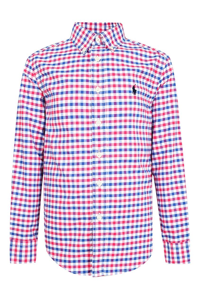 Купить Рубашку в красно-синюю клетку от Ralph Lauren Kids цвет multicolor